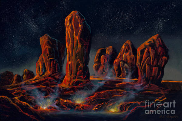 Star Formation Painting - Sentinel Conclave by Birgit Seeger-Brooks