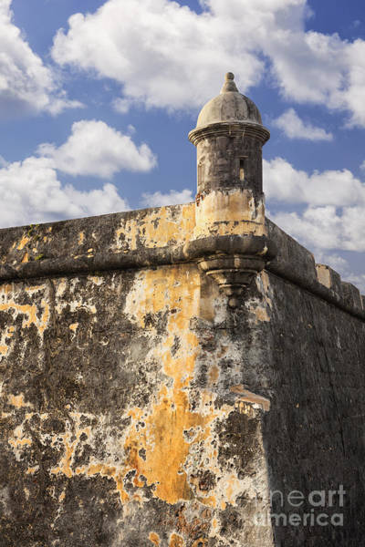 Sentry Box Photograph - Sentry Box At El Morro Fortress In Old San Juan by Bryan Mullennix