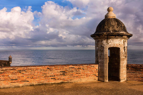 Sentry Box Photograph - Sentry Boxes In Old San Juan's Fort San Cristobal.  by Carter Jones