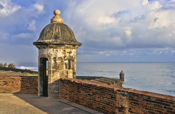 Sentry Box Photograph - Sentry Post On Old San Juan Wall by Betty Eich