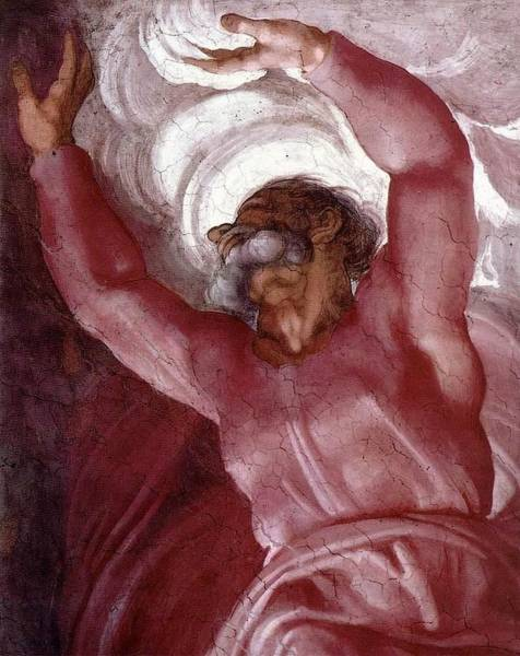 Apostolic Palace Wall Art - Painting - Separation Of Light From Darkness by Michelangelo Buonarroti