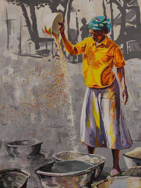 Ghana Painting - Separation by Walter Bowen