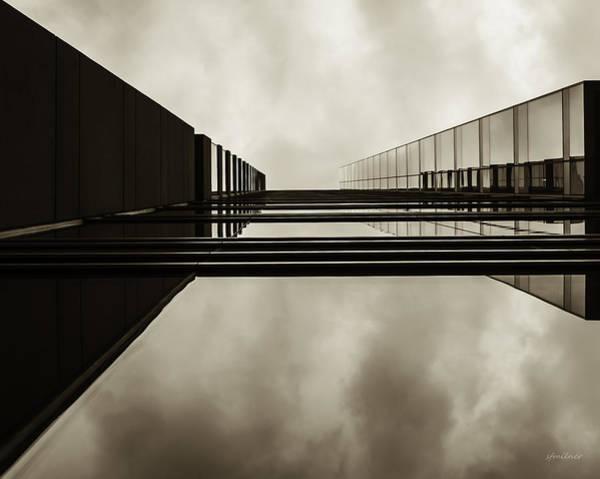 Photograph - Sepia Skyscraper Series - Infinity by Steven Milner
