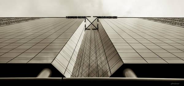 Photograph - Sepia Skyscraper Series - Long View by Steven Milner