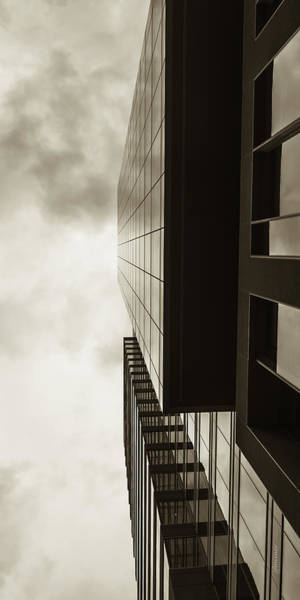 Photograph - Sepia Skyscraper Series - Top Down by Steven Milner