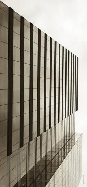 Photograph - Sepia Skyscraper Series - Vertical Edge by Steven Milner