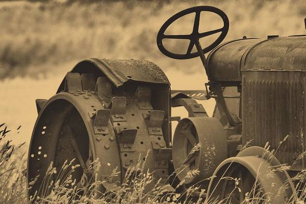 Photograph - Sepia Tractor by Dan Sproul