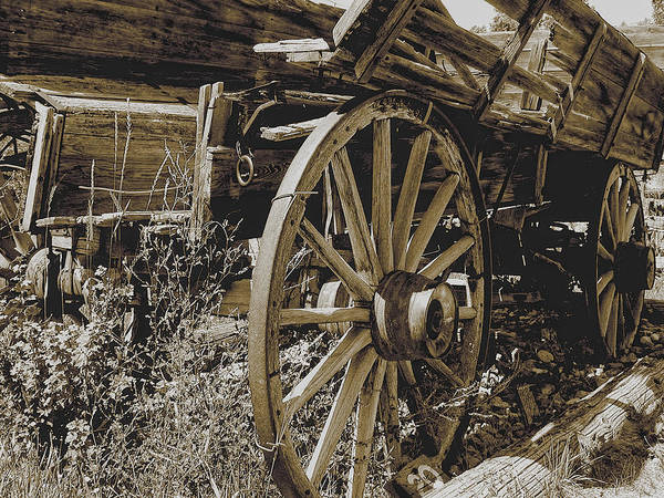 Photograph - Sepia Wagon by David Armstrong