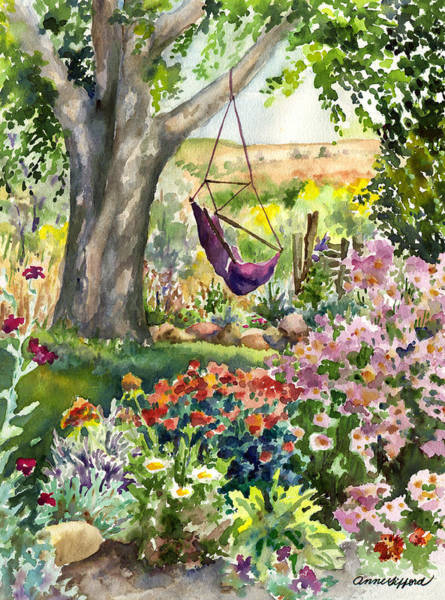 Painting - September Garden by Anne Gifford