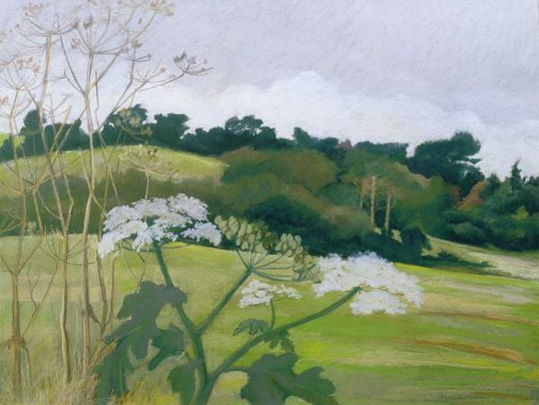 English Countryside Photograph - September Pastel On Paper by Cristiana Angelini