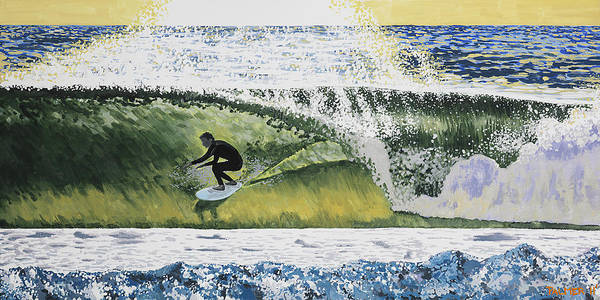 Surfer Painting - September Session by Andrew Palmer
