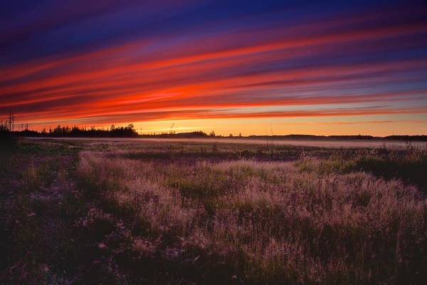 Photograph - September Sunset North Pole Alaska by Michael Rogers