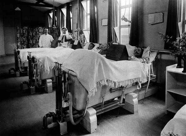 Bath Tub Photograph - Septic Wounds Hospital Ward by National Library Of Medicine
