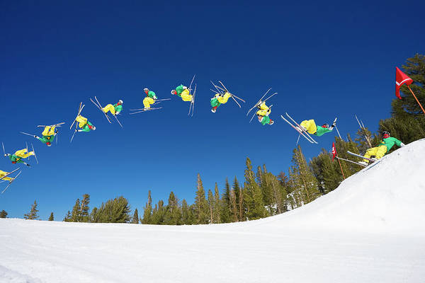 Wall Art - Photograph - Sequence Of Skier Doing Radical Back by Design Pics Vibe