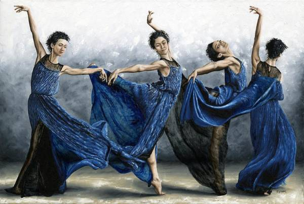 Barefoot Wall Art - Painting - Sequential Dancer by Richard Young