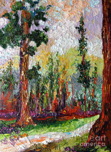 Sequoia Tree Painting - Sequoia Path National Parks  by Ginette Callaway