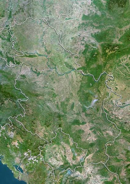 Balkan Peninsula Photograph - Serbia by Planetobserver/science Photo Library