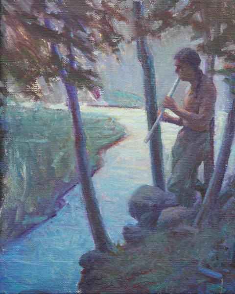 Native American Culture Painting - Serenade To The Night by Ernest Principato
