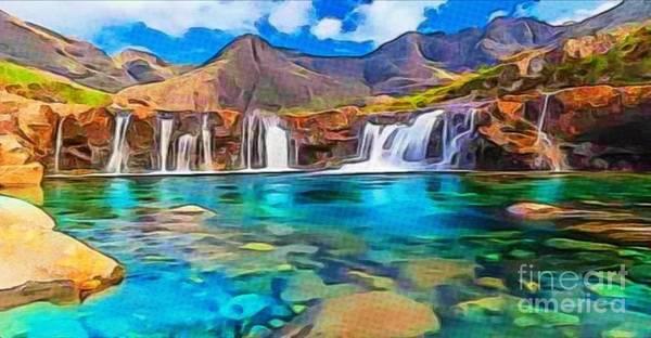 Serene Green Waters Art Print
