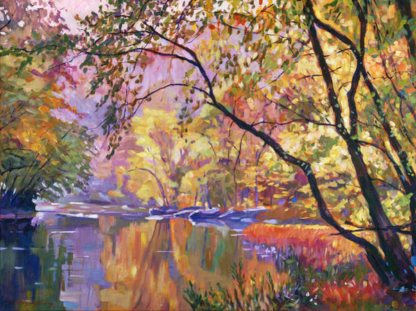 Wall Art - Painting - Serene Reflections by David Lloyd Glover