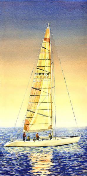 Painting - Serene Sail by Douglas Castleman