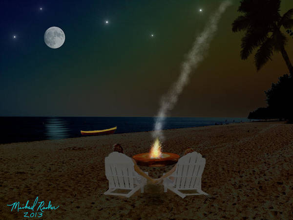Ocean Wall Art - Digital Art - Serenity On The Beach by Michael Rucker