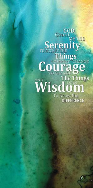 Understanding Painting - Serenity Prayer 2 - By Sharon Cummings by Sharon Cummings