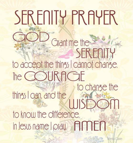 Serenity Prayer Digital Art - Serenity Prayer by Amelia Carrie