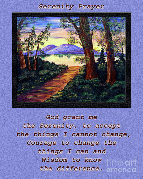 Serenity Prayer Digital Art - Serenity Prayer And Favorite Fishing Spot by Barbara Griffin