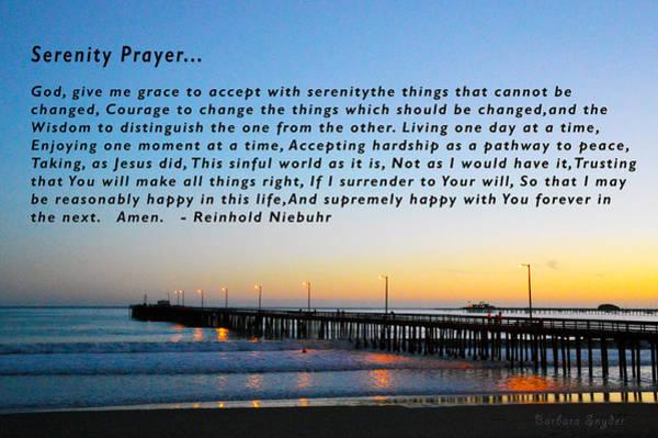 Serenity Prayer Digital Art - Serenity Prayer Avila Beach California by Barbara Snyder