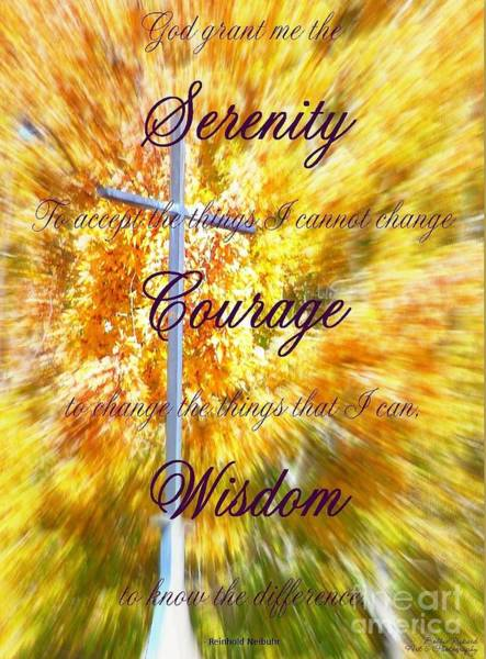 Serenity Prayer Digital Art - Serenity Prayer II By Bobbee Rickard by Bobbee Rickard