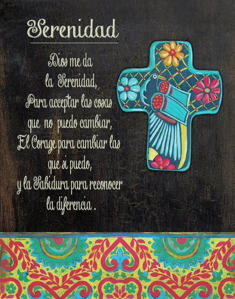 Latino Painting - Serenity Prayer by Jo Moulton