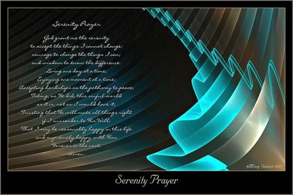 Digital Art - Serenity Prayer by Missy Gainer