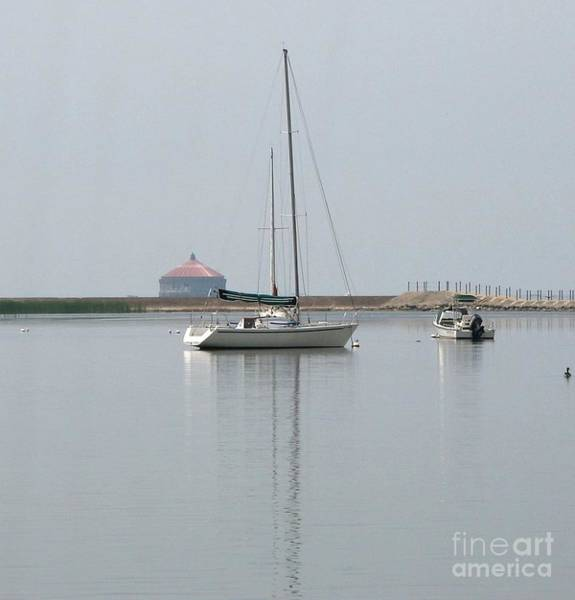 Photograph - Serenity Sailboat In Buffalo New York Harbor by Rose Santuci-Sofranko