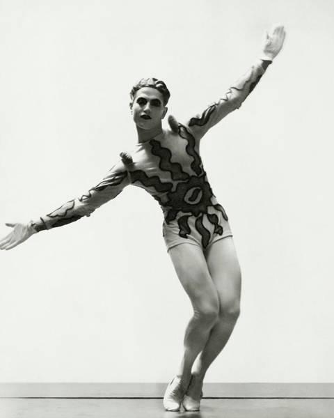 Serge Lifar Wearing A Painted Leotard Art Print