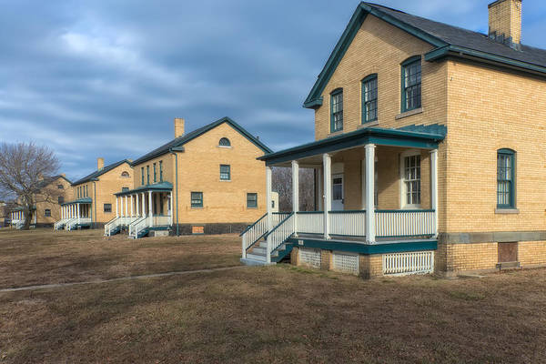 Photograph - Sergeants' Row Houses At Sandy Hook by Gary Slawsky