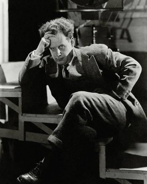 Male Photograph - Sergei Eisenstein Sitting On A Staircase by Barre