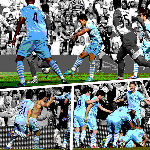 City Scenes Wall Art - Photograph - Sergio Aguero Goal Vs Qpr by Pro Prints
