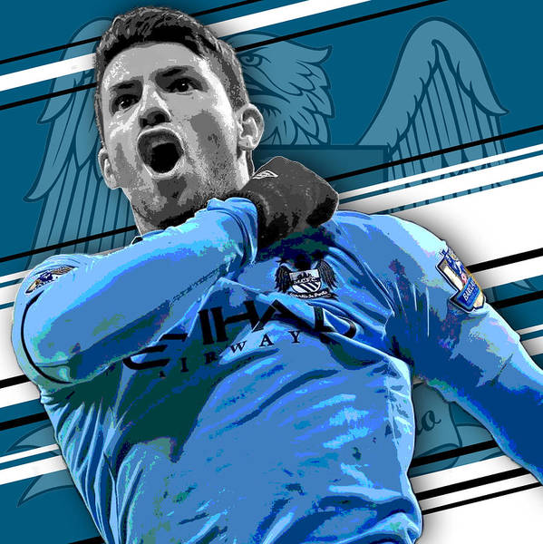 Wall Art - Photograph - Sergio Aguero Manchester City Print by Pro Prints