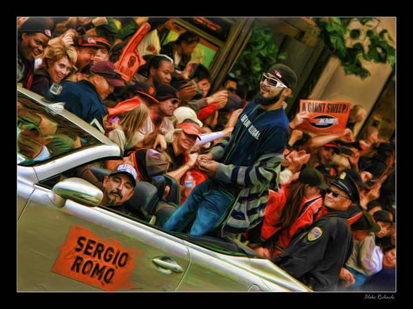 Photograph - Sergio Romo World Series 2012 by Blake Richards