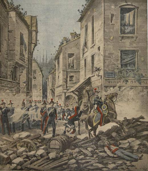 Disorder Wall Art - Drawing - Serious Troubles In Italy Riots by French School