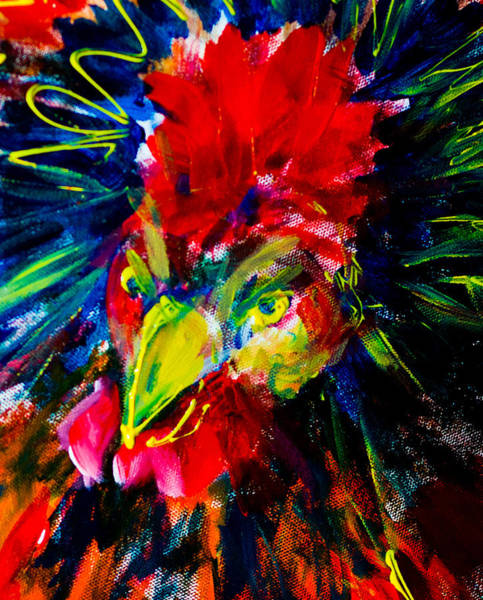 Painting - Seriously Stressed Rooster by Maxim Komissarchik