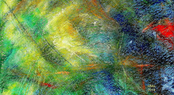 Monotype Mixed Media - Serpentinite by Jean MARTin