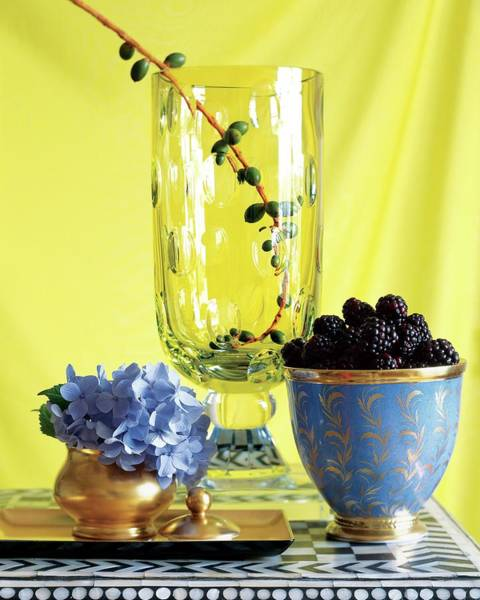Yellow Background Photograph - Serveware by Beatriz Da Costa