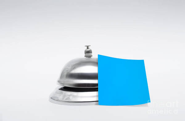 Receptions Photograph - Service Bell With Blank Message by Jorgo Photography - Wall Art Gallery