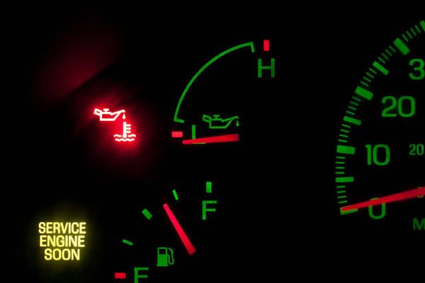 Photograph - Service Engine Oil Pressure by Gunter Nezhoda