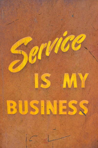Photograph - Service Is My Business by Michelle Calkins
