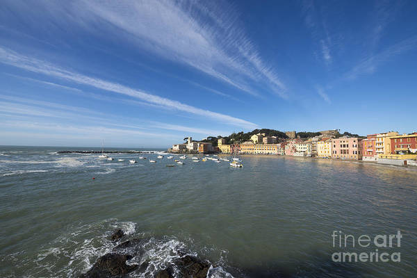 Sestri Levante Photograph - Sestri Levante With Blue Sky And Clouds by Mats Silvan