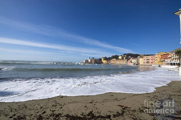Sestri Levante Photograph - Sestri Levante With Waves by Mats Silvan