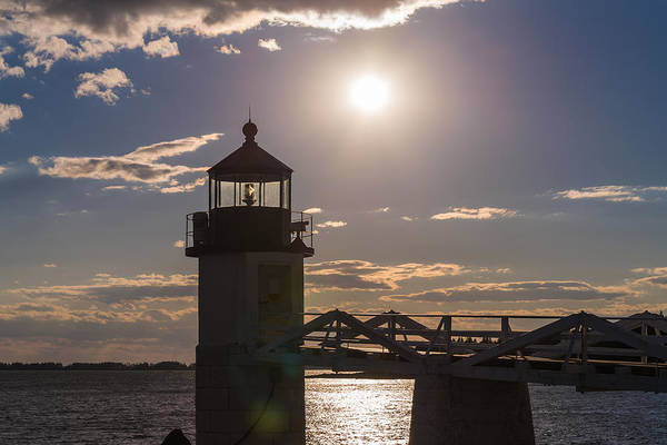 Marshall Point Lighthouse Photograph - Setting Point by Kristopher Schoenleber